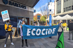 Extinction Rebellion Hold Demo Outside Barclays in Putney