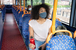 Thousands Without Facemasks Stopped from Boarding Buses
