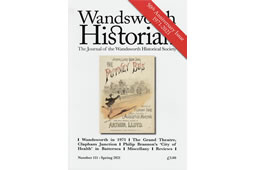 Focus on Sleaze in Wandsworth Historian 50th Anniversary Issue